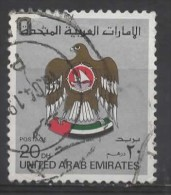 UAE 1982 U.A.E. Crest - 20d. - Silver FU - Verenigde Arabische Emiraten