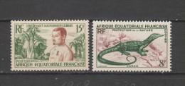 Yvert 230 / 231 ** Neuf Sans Charnière - A.E.F. (1936-1958)