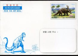 5314  North Korea, Stationery Aerogramme, Chasmosaurus,  Prehistory,  Dinosaur - Preistoria
