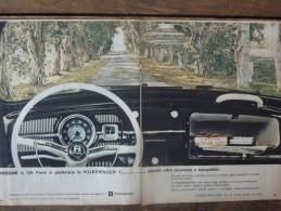 ADVERTISING PUBBLICITA´ VOLKSWAGEN MAGGIOLINO OFFRE SICUREZZA E TRANQUILLITA'   -- 1963  -  OTTIMO - Werbung