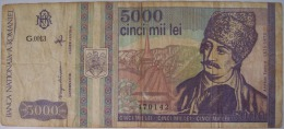 ROMANIA BANCONOTA DA 5000 LEI - Rumania