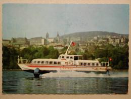 """Bateau Boat, Vedette à Ailes Portantes """"Albatros"""" De La Compagnie Générale De Navigation Sur Le Lac Léman - Piroscafi"""