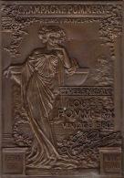 Plaque En Métal Cuivre Ou Laiton Commémorative Champagne Pommery Reims Numérotée - Unclassified