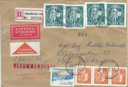 Sweden Registered - Remboursement  Express Cover.   H-715 - Other