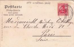 BAHNPOST METZ-CHATEAU SALINS CARTE 1906 METZ PONT DES MORTS ET FORT MOSELLE  / 1665 - Marcophilie (Lettres)
