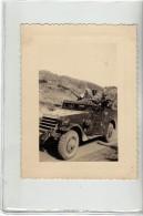 VEHICULE MILITAIRE - MITRAILLEUSE - PHOTO MILITAIRE 10.5 X 8 CM - Oorlog, Militair