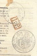 JOURNAL L´INDEPENDANT Complet Du 29 Mai 1851 Timbre Humide 2 C Noir + Griffe Charente + PP (fiscal/postal) TB - Marcophilie (Lettres)