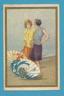 CPA 2239 - Femmes Ombrelles Illustrateuir Italien BUSI Adolfo Italie - Busi, Adolfo