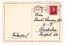 1935 Czechoslovakia Postcard - Czech Republic