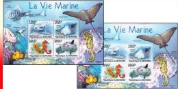 Burundi BL 0161** Et  161ND** - La Vie Marine - MNH - Poissons
