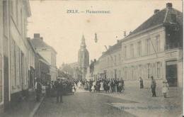 Zele.  -   Plaisantstraat   -   Zeer Mooie Kaart.  -  1906  Naar  Dendermonde - Zele