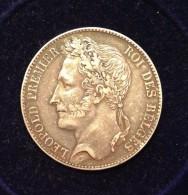 BELGIQUE - 5 FRANCS Tête Laurée 1847 - TTB - 1831-1865: Leopold I