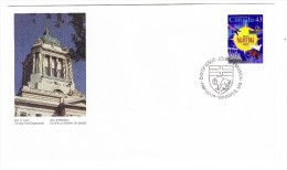 1995 Canada Manitoba 43c  First Day Cover - 1991-2000