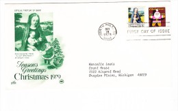 1979 USA Christmas First Day Cover - First Day Covers (FDCs)