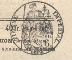 JOURNAL AFFICHES PARISIENNES Complet Du 10 Janvier 1862 Timbre Humide 6 C Noir  SEINE(fiscal)+ Légalisation SUP - 1849-1876: Periodo Clásico
