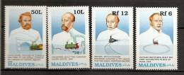 Maldives 1989 N° 1240 / 3 ** Train, Transport Ferrovière, Locomotives, Van Horne, Transcanadien, Louis Favre, Tunnel - Maldives (1965-...)