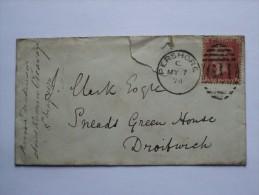 GB VICTORIA 1874 COVER PERSHORE DUPLEX TO DROITWICH - 1840-1901 (Victoria)