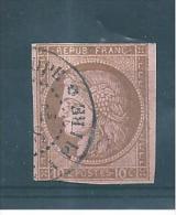Colonie Type Ceres  Timbre De 1872/77  N°18  Oblitéré - Ceres