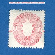 CURIOSITES SAXE 1863-67  N° 15  IMPRESSION EN RELIEF NEUF GOMME  3 SCANNE DESCRIPTION - Saxony