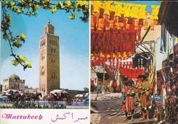 MAROC---MARRAKECH---la Koutoubia---les Teinturiers---voir 2 Scans - Marrakech