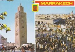 MAROC---MARRAKECH---la Koutoubia---place Djamaa El Fna---voir 2 Scans - Marrakech