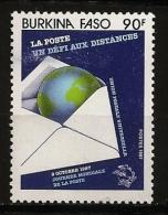 Burkina Faso 1987 N° 749 ** Poste, Enveloppe, Lettre, Globe, Terre, UPU, Union Postale Universelle, Philatélie, Timbre - Burkina Faso (1984-...)