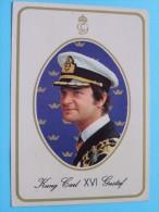 H.M. Konung Carl XVI GUSTAF King Of Sweden ( Giovanni Trimboli ) Anno 1982 ( Zie/voir Foto Voor Details ) !! - Suède