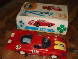 Alfa Romeo 33 Quadrifoglio Verde (marca Ellegi): Maxi Modellino (cm 43 X 18 X 9) Originale Anni ´70 Completo Di Scatola - Automobili