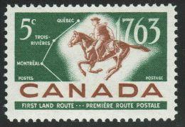 CANADA 1963, # 413,  POSTAL SERVICE POSTRIDER & MAP ,  Single M NH - 1952-.... Règne D'Elizabeth II