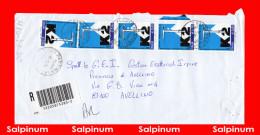 MULTIPLO PURO 2004 SCALATA DEL K2 € 0,65 X 5 LEGGI …… - 2001-10: Storia Postale