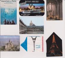 Lot De 7 Tickets D´entrées Monuments Paris, Eiffel, Bateaux Mouches Et Mont St Michel - Tickets - Vouchers