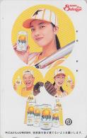 Télécarte Japon - FEMME / Boisson KIRIN Orange - GIRL & DRINK Japan Phonecard - Frau Telefonkarte - 2018 - Food