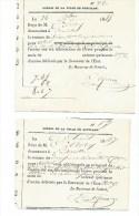Octroi De La Ville De BOUILLON- Accises Sur La Fabrication De Bières. Année 1845  Et 1847. RARE Document. - Documents Historiques