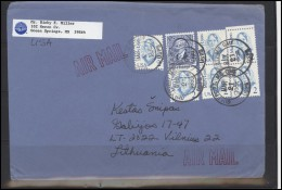 USA 199 Cover Brief Air Mail Postal History Personalities - Postal History