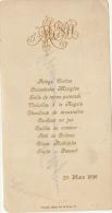 Menu Pour Senateur Hubert Van Willigen 1898 Gaufré - Menus