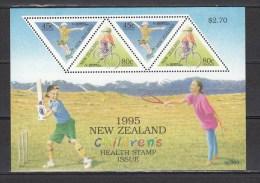 New Zealand 1995,4V In Block,skateboarden,cycling,fietsen,radfahren,vélos De Route,ciclismo,MNH/Postfris(L2160) - Skateboard