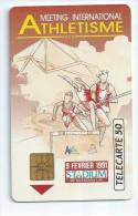 D543 Telecarte Privée France 1991 Vintage Athlétisme Meeting De Bordeaux Port Simple Gratuit - France