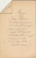 Menu Pour Senateur Hubert Van Willigen 1890 - Menükarten