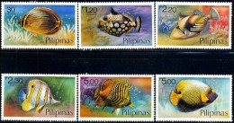 6 Different Tropical Fishes, Philippines Stamp SC#1379-1384 MNH Set - Philippines