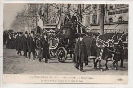 75012 PARIS Enterrement De Paul Déroulède - 3 Février 1914 Le Corbillard Au Départ De La Gare De Lyon - Arrondissement: 12