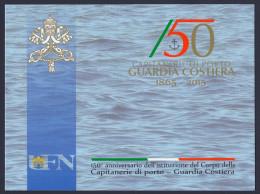 """2015 VATICANO """"150° ANNIVERSARIO CAPITANERIE DI PORTO E GUARDIA COSTIERA"""" FOLDER - FDC"""