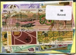 50 Timbres Thème Burundi - Collections
