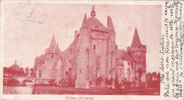 Château De Laerne (petit Format Découpé Par L'expéditeur 1900) - Laarne