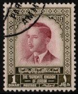 ~~~ Jordan 1954 - King Hussain II - 1 Dinar - Key Value - Mi. 301 (o) CV 25 € - Jordanië