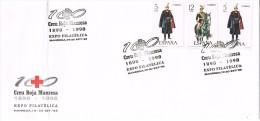 16830. Carta Exposicion MANRESA (barcelona) 1998. Cruz Roja, Creu Roja - 1931-Hoy: 2ª República - ... Juan Carlos I