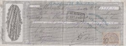 8/12/1894 Honoré ARNAVON Savons MARSEILLE Pour Gourdon Lot - Lettres De Change