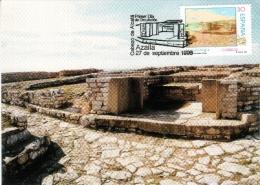 SPAIN ESPAGNE 1996. MAXIMUM CARD. ROMAN TEMPLE OF CABEZO DE ALCALA. AZAILA TERUEL ARCHEOLOGY - Archaeology
