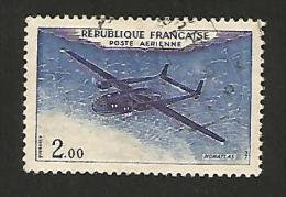 N° 38 PA38 Poste Aérienne  Noratlas, 2 F 00 Variété Blanc Sous La Queue   Oblitéré 1960/1964 France - Curiosa: 1960-69 Afgestempeld