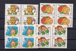 STAMP RUSSIA Mint (**) 1992 Set Children Literature Hero Neznaika Cipollino Pinocchio Karlson - 1992-.... Fédération