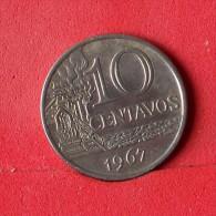 BRAZIL 10 CENTAVOS 1967 -    KM# 578,1 - (Nº13880) - Brasilien